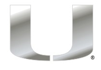 "Miami Hurricanes Chrome U Logo 6"" Magnet - CanesWear at Miami FanWear Decals & Stickers Craftique CanesWear at Miami FanWear"