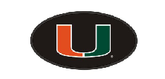 "Miami Hurricanes U Hitch Cover 2"" - Black - CanesWear at Miami FanWear Automobile Accessories Craftique CanesWear at Miami FanWear"