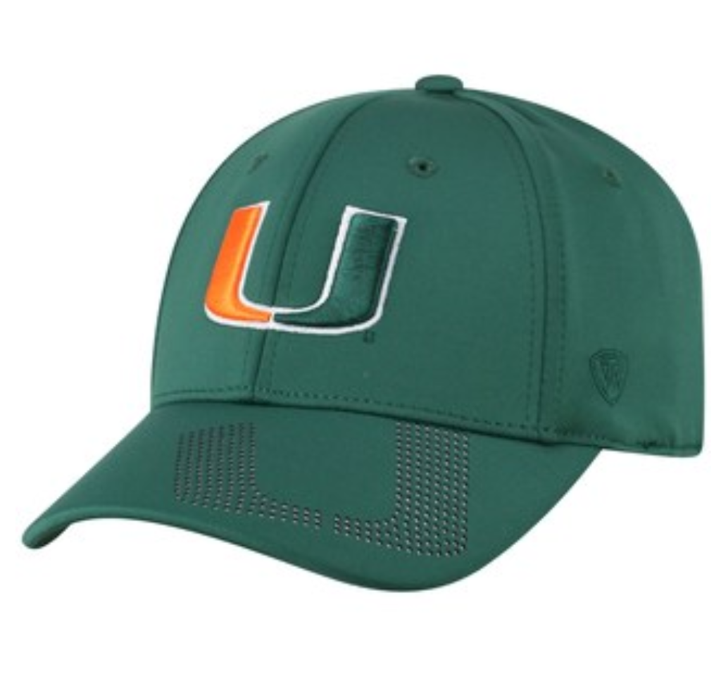 Miami Hurricanes Pitted Memory Fitted Hat