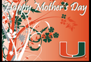 Miami Hurricanes Mother's Day Card