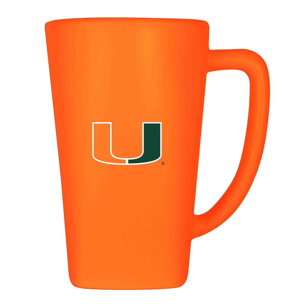 Miami Hurricanes 16 oz Ceramic Mug- Orange