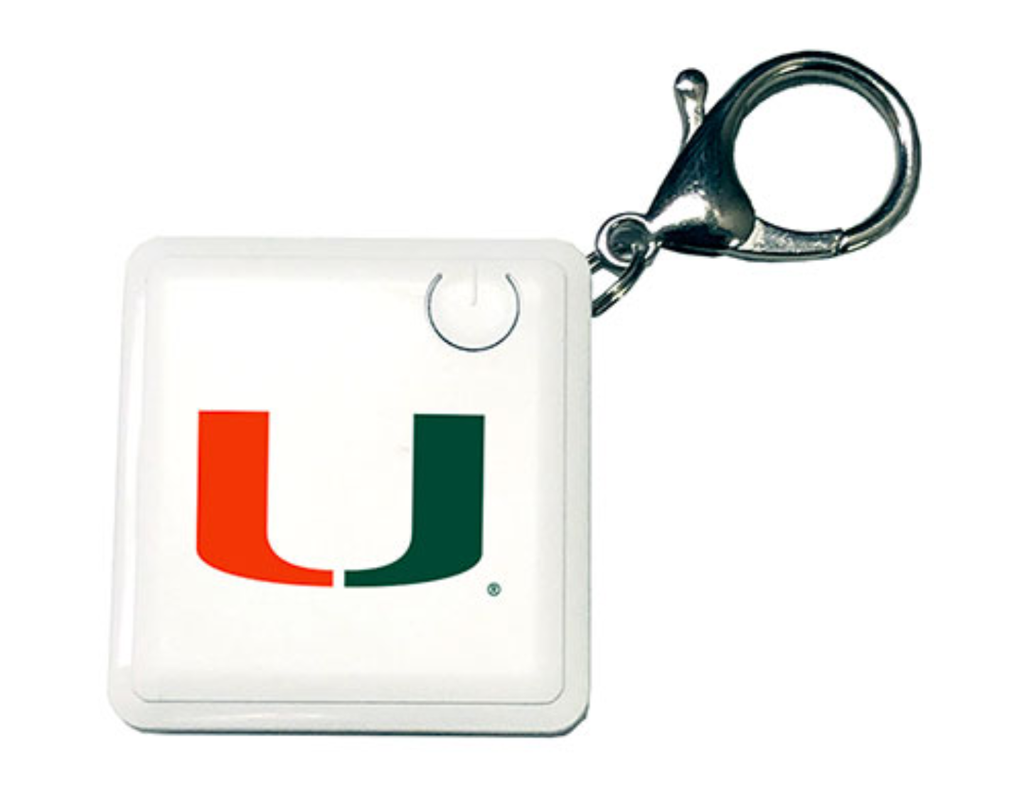 Miami Hurricanes Rechargeable Keychain Power Bank Charger
