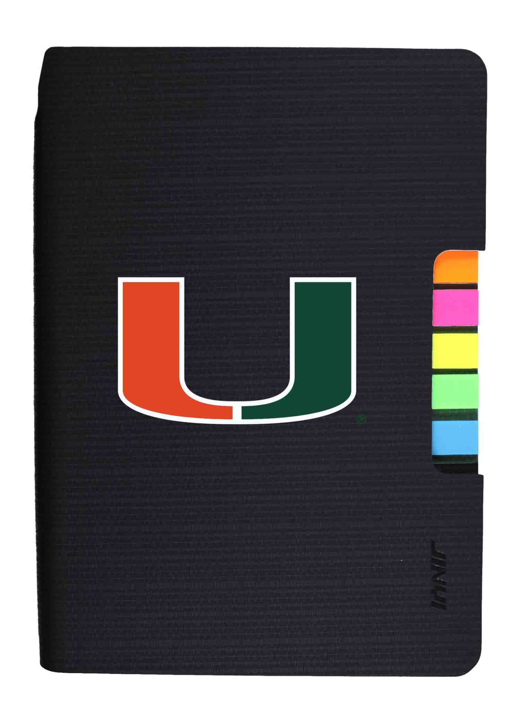 Miami Hurricanes Journal w/Tabs - Black