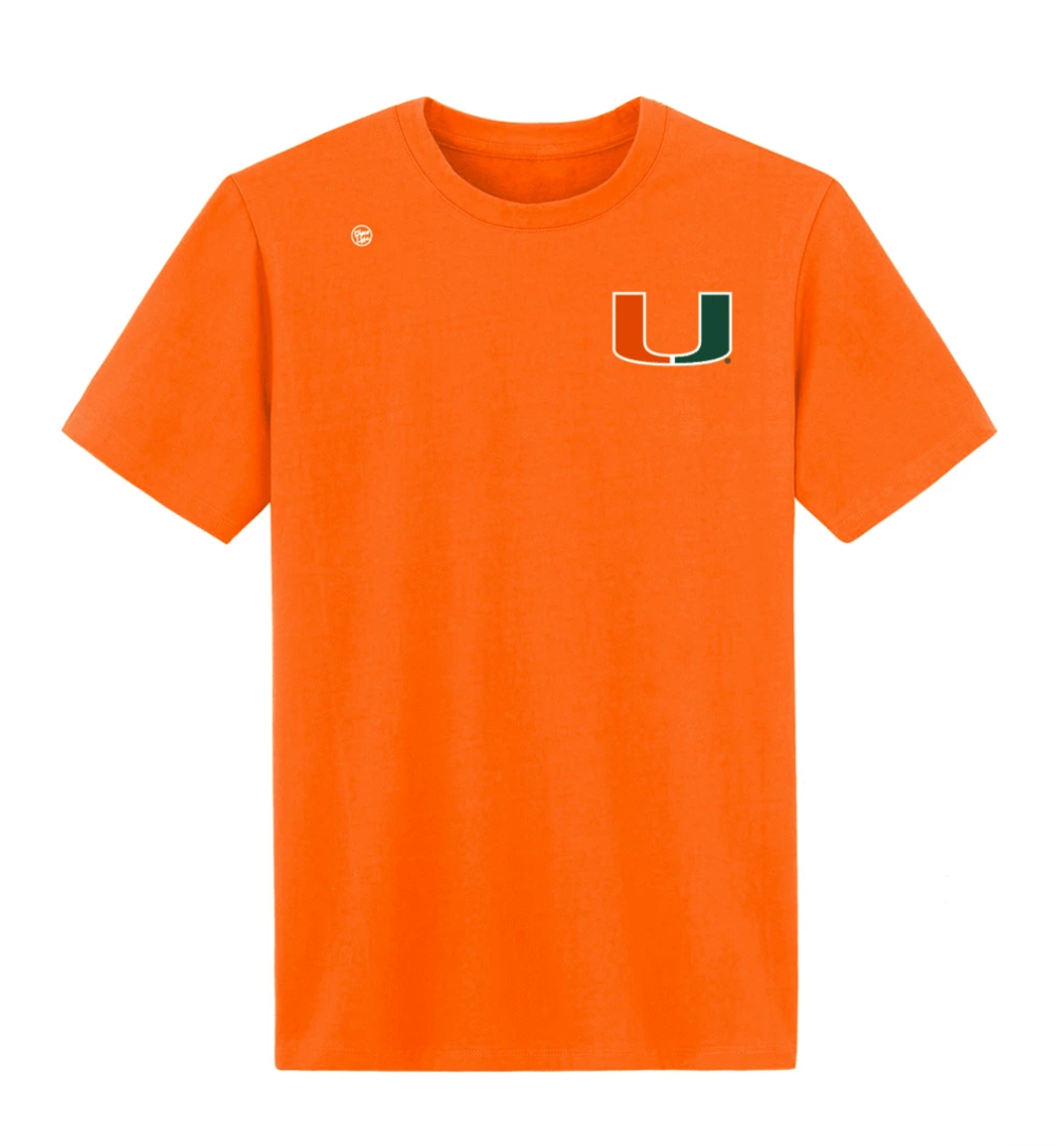 Miami Hurricanes Dyme Lyfe Ed Reed 20 T-Shirt - Orange