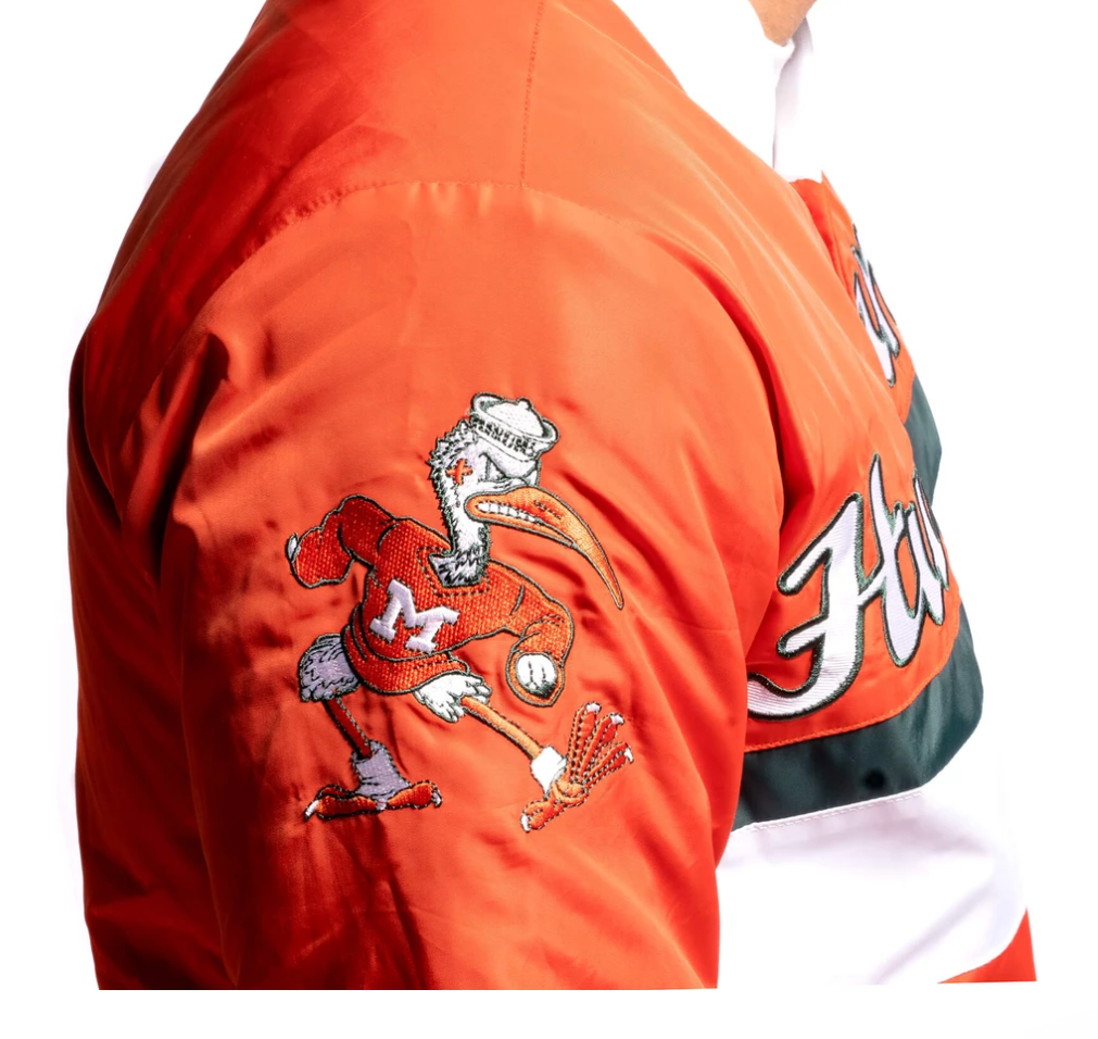 Miami Hurricanes Dyme Lyfe Championship Jacket - Orange
