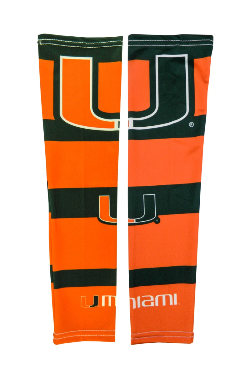 Miami Hurricanes Strong Arms Sleeves - 2 pk