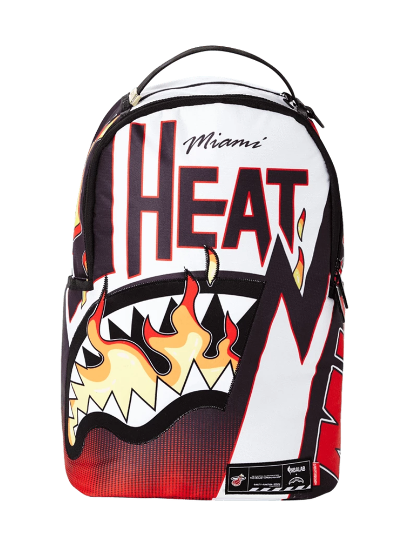 Miami Heat Sprayground Flame Shark Backpack