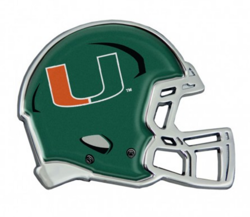 Miami Hurricanes Green Helmet Metallic Emblem