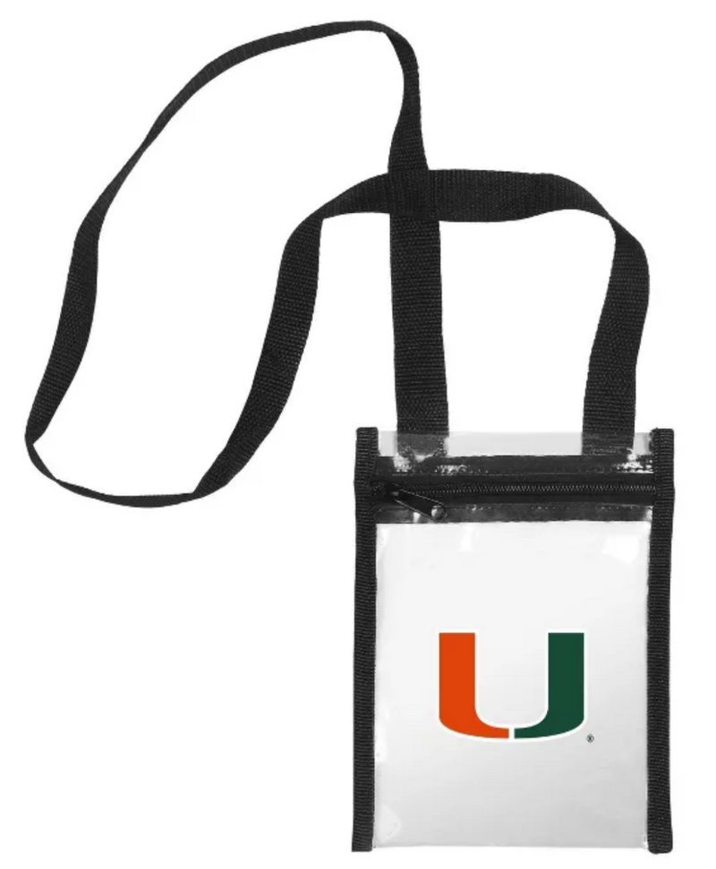 Miami Hurricanes Clear Crossbody Tote bag