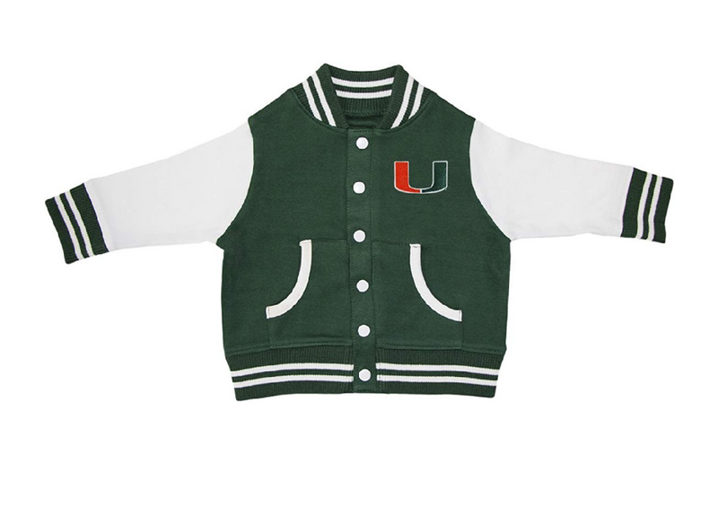 Miami Hurricanes Infant/Toddler Varsity Jacket