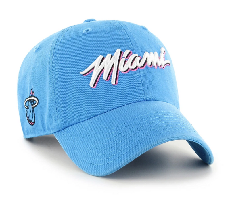 Miami Heat '47 Brand City Edition Adjustable Hat - Glacier Blue