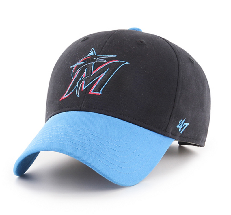 Miami Marlins '47 Brand Short Stack MVP Youth Hat - Adjustable