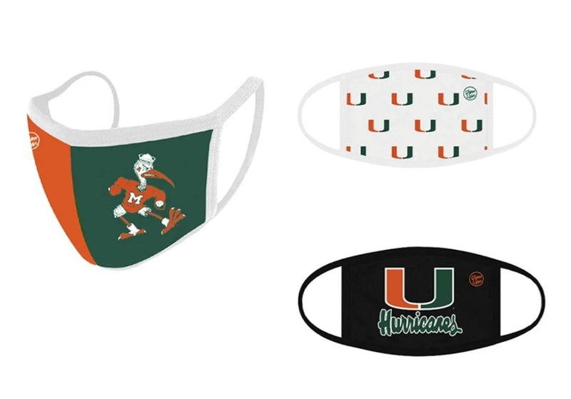 Miami Hurricanes Dyme Lyfe Face Covering - 3 pk