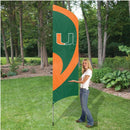 Miami Hurricanes Tall Team Flag Kit with Pole