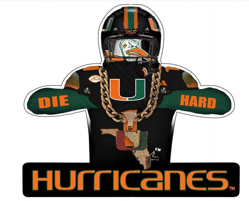 Miami Hurricanes Flippy Magz Player 4.0 Turnover Chain Reversible Magnet