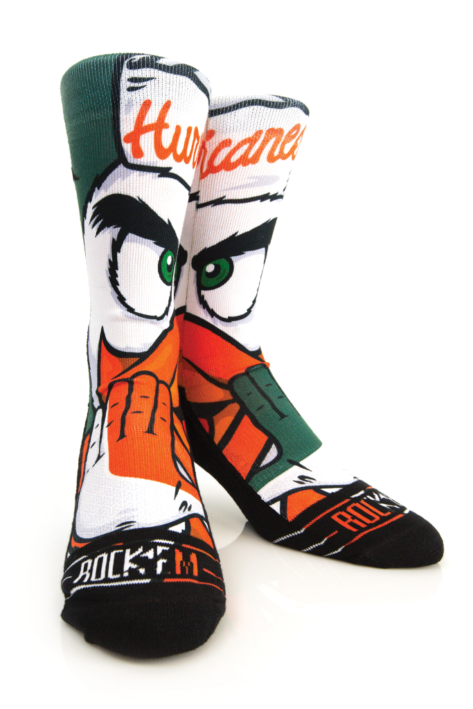 Miami Hurricanes Rock'em Youth Sebastian Socks - CanesWear at Miami FanWear Footwear Rock'em CanesWear at Miami FanWear