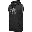 Miami Hurricanes Colosseum Men's Sleeveless Sebastian Hoodie- Charcoal/Black