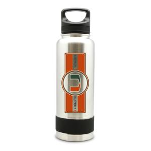 Miami Hurricanes Stainless Steal Double Wall Insulated Thermos Water Bottle - 40 oz.
