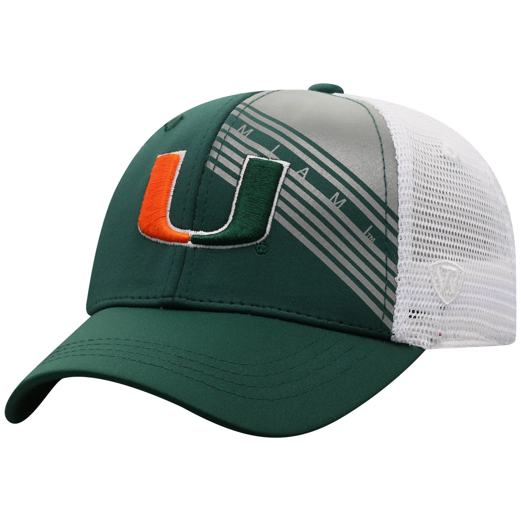 Miami Hurricanes Top of the World Timeline Adjustable Youth - Green/White