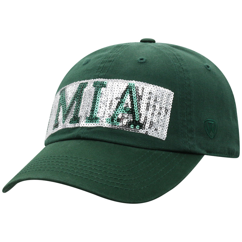 Miami Hurricanes Top of the World Tinsel Adjustable Women's Hat