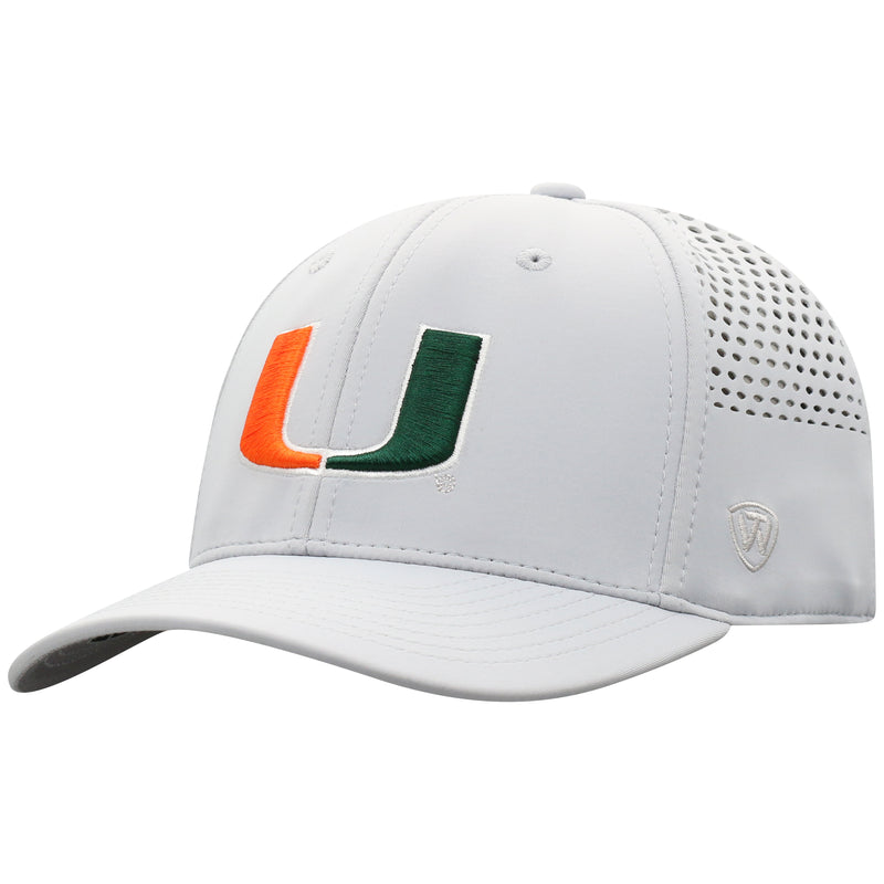 Miami Hurricanes Top of the World Tower One Fit Light Grey