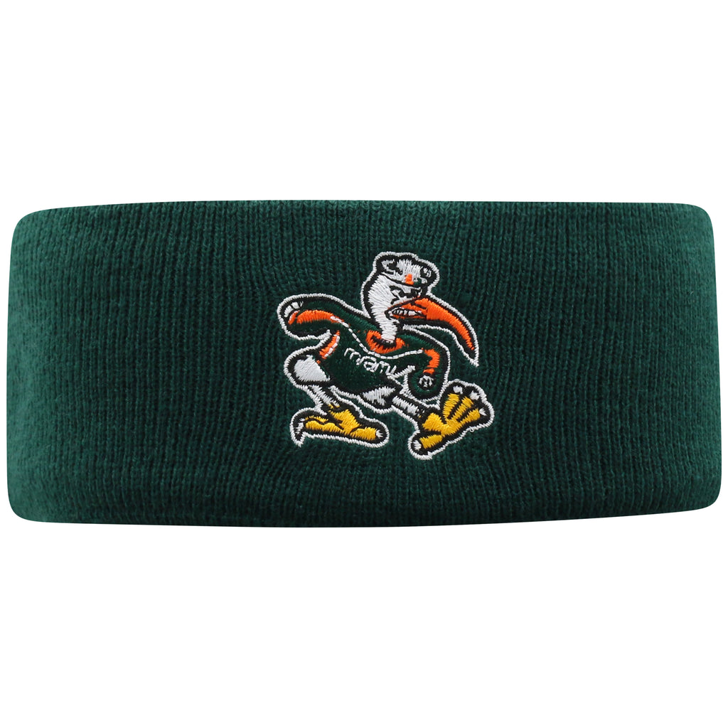 Miami Hurricanes Top of the World Tow Band Headband - Green