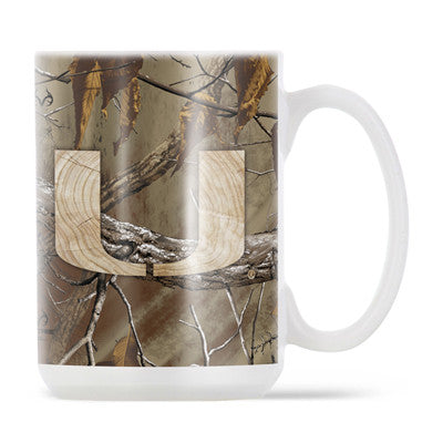 Miami Hurricanes 15oz Ceramic Mug - Realtree - CanesWear at Miami FanWear Drinkware ThermoServ CanesWear at Miami FanWear