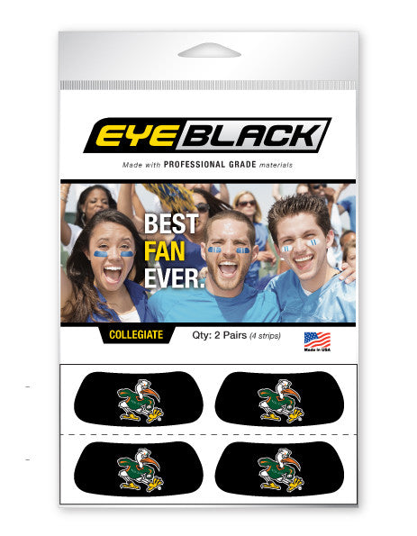 Miami Hurricanes Eye Black, Sebastian Ibis, Set of 4 - CanesWear at Miami FanWear Tailgate Gear Eye Black CanesWear at Miami FanWear