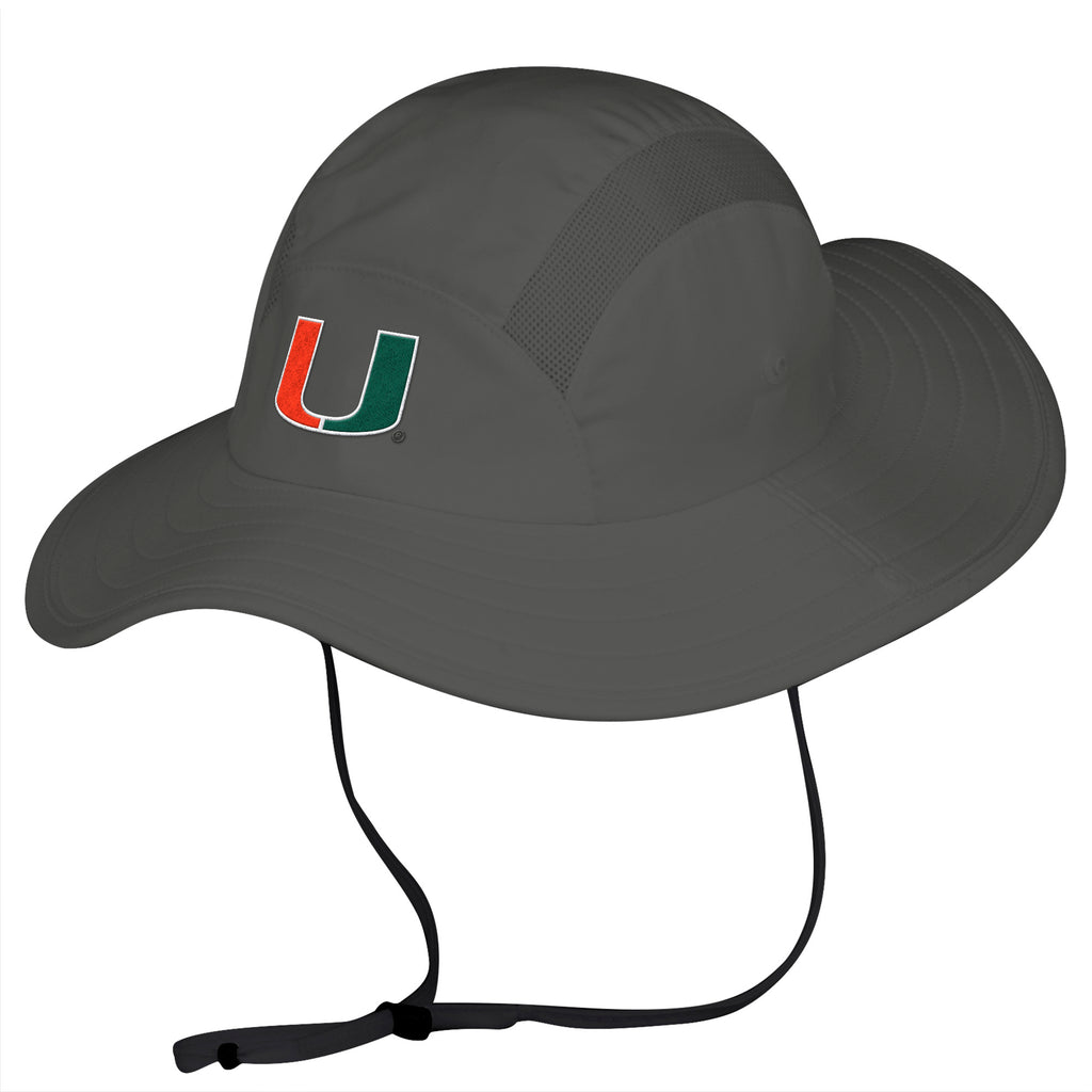 Miami Hurricanes adidas 2018 Safari Hat - Grey – CanesWear at Miami FanWear 620db98d16eb