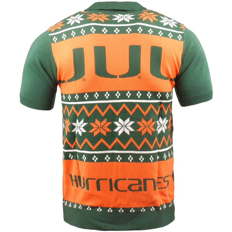 Miami Hurricanes Ugly Sweater Knit Polo
