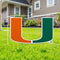 Miami Hurricanes Miami U Lawn Sign