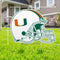 Miami Hurricanes Miami Football Helmet Lawn Sign