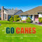 Miami Hurricanes Go Canes Lawn Display