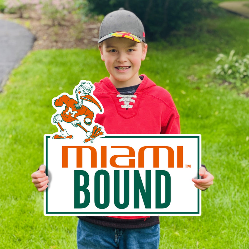 Miami Hurricanes Miami Bound Sebastian Lawn Sign