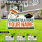 Miami Hurricanes Custom Congratulations Sebastian Lawn Sign