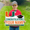 Miami Hurricanes Custom Congratulations U Lawn Sign