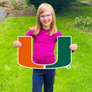 Miami Hurricanes 2021 U Grad Lawn Display