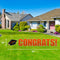 Miami Hurricanes Congrats Grads Lawn Display - Orange Text