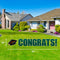 Miami Hurricanes Congrats Grads Lawn Display - Green Text