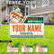 Miami Hurricanes Custom Happy Birthday w/ Sebastian Lawn Sign