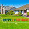Miami Hurricanes Happy Birthday U Lawn Display