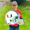Miami Hurricanes Let's Go Helmet Lawn Display