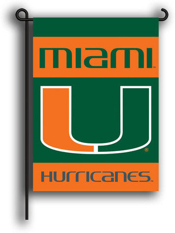 Miami Hurricanes Double-Sided Garden Flag 13x18 - CanesWear at Miami FanWear Home & Office BSI CanesWear at Miami FanWear