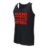 Miami Hurricanes adidas Ultimate Performance Football Tank Top - Black