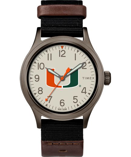 Miami Hurricanes Men's Clutch Timex Watch