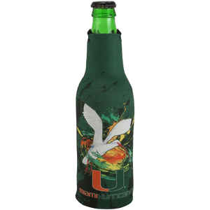 Miami Hurricanes Guy Harvey Zipper Bottle Coozie - CanesWear at Miami FanWear Tailgate Gear Guy Harvey CanesWear at Miami FanWear