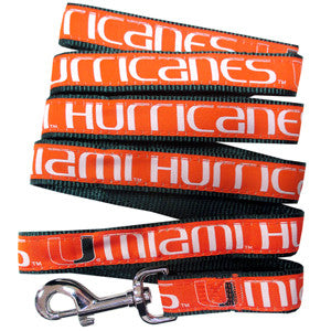 Miami Hurricanes Pet Leash - CanesWear at Miami FanWear Pet Gear Pets First CanesWear at Miami FanWear