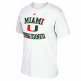 Miami Hurricanes Legendary Baselayer Go-To- T-Shirt - White - CanesWear at Miami FanWear Men's Apparel Adidas Group CanesWear at Miami FanWear