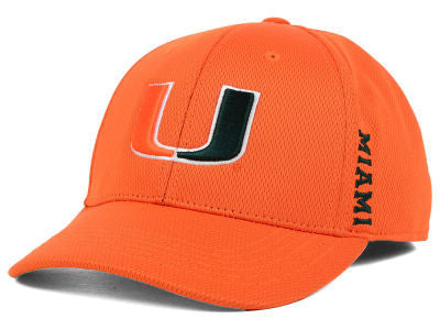 Miami Hurricanes Booster One Fit Hat - Orange
