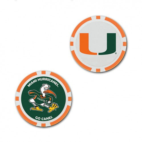 Miami Hurricanes Golf Ball Marker / Poker Chip